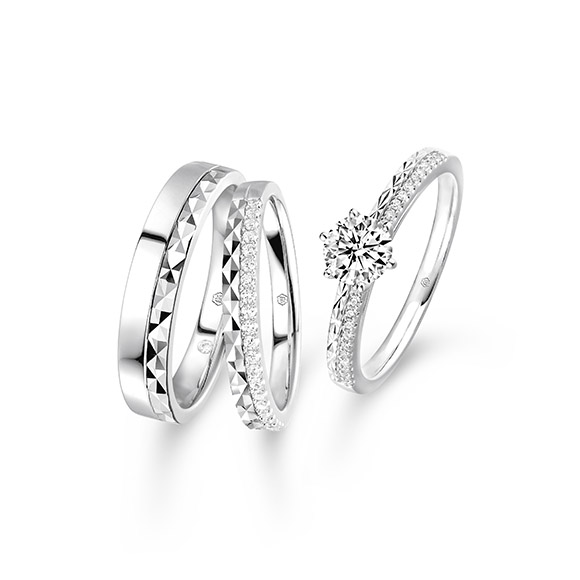 婚嫁系列幸福流转18K钻石对戒