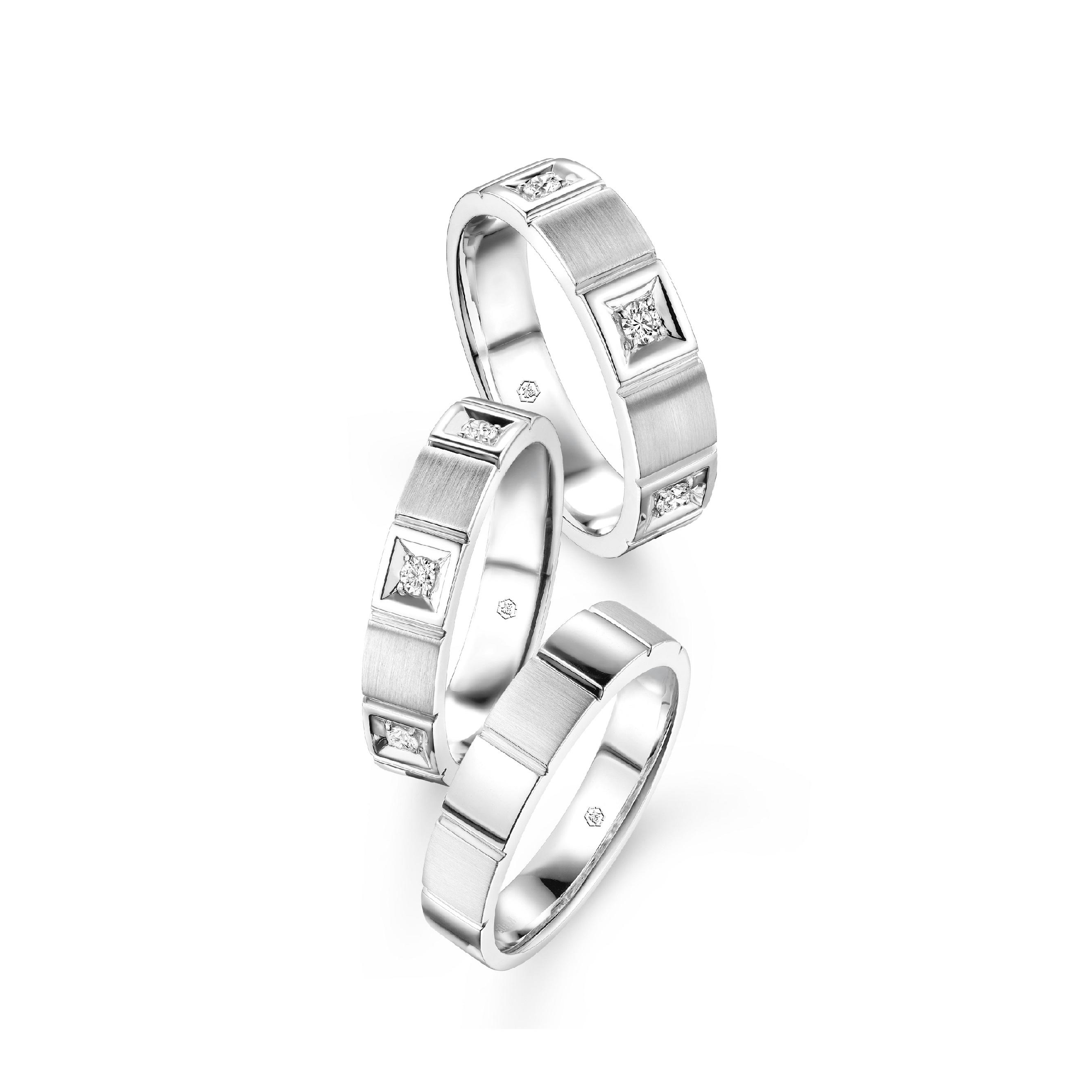 婚嫁系列幸福阶梯18K钻石对戒