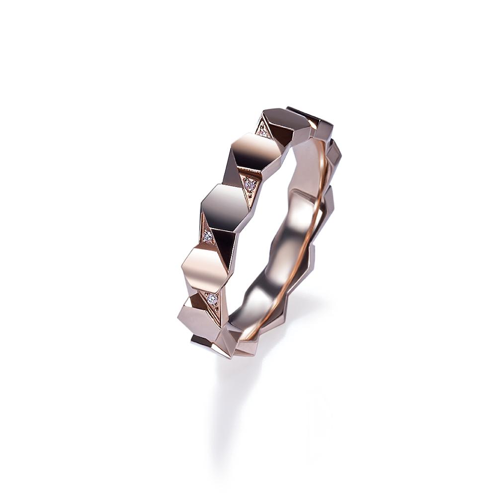 Hexicon系列18K金(紅色)鑽石戒指