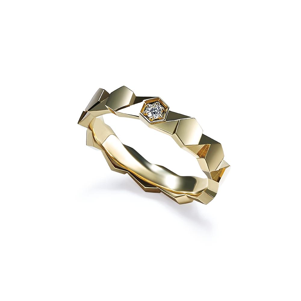 Hexicon系列18K金(黄色)鑽石戒指