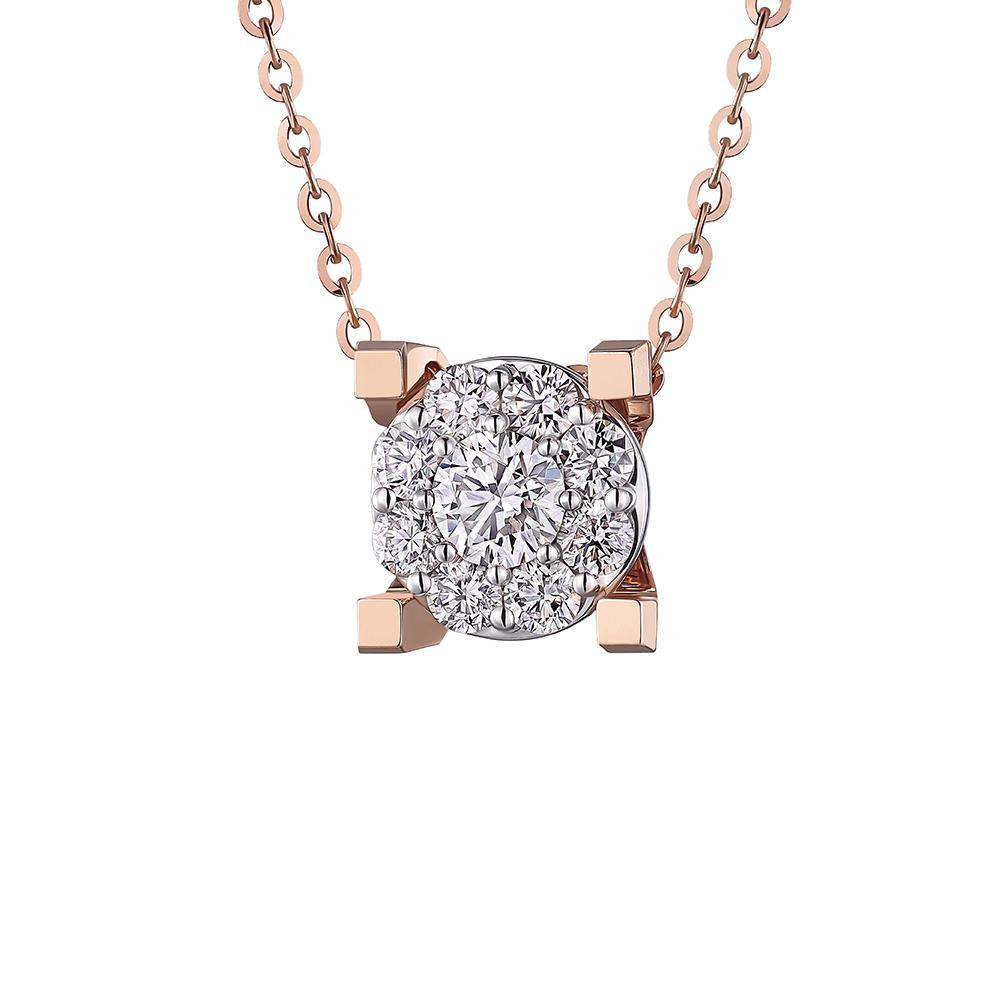 Hexicon 18K金钻石项链(围镶工艺)