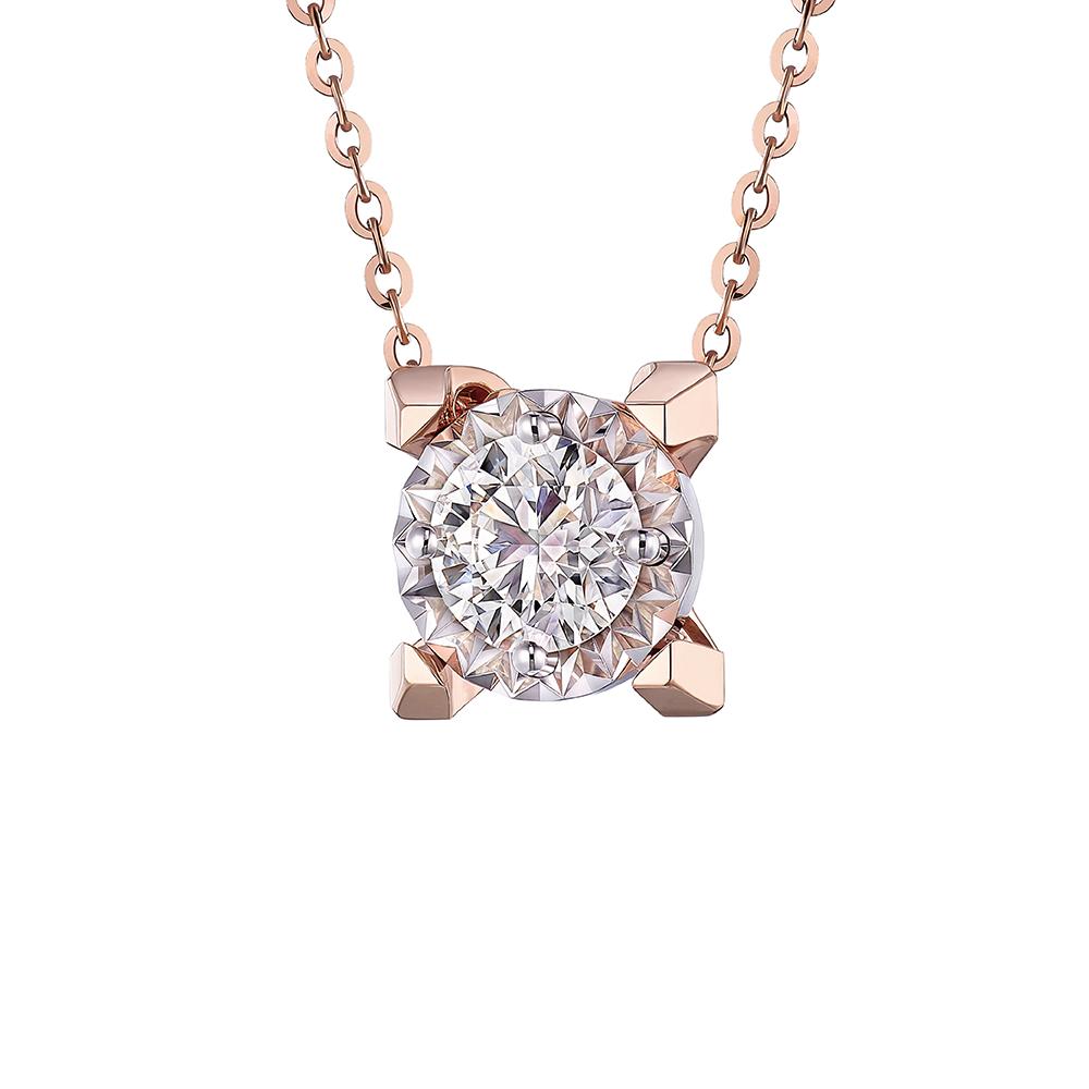 Hexicon 18K Gold Diamond Necklace (Shiny Setting)