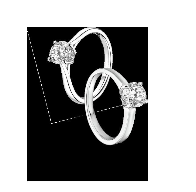 婚嫁系列「一戒定情」18K金钻石戒指