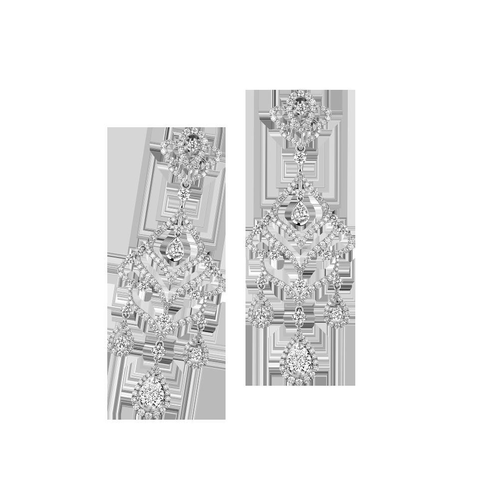 Wedding Collection Romantic Love 18K (White) Gold Diamond Earrings