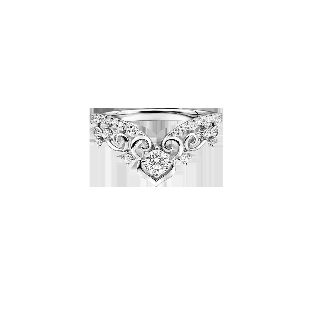 婚嫁系列「幸福如意」18K金钻石戒指