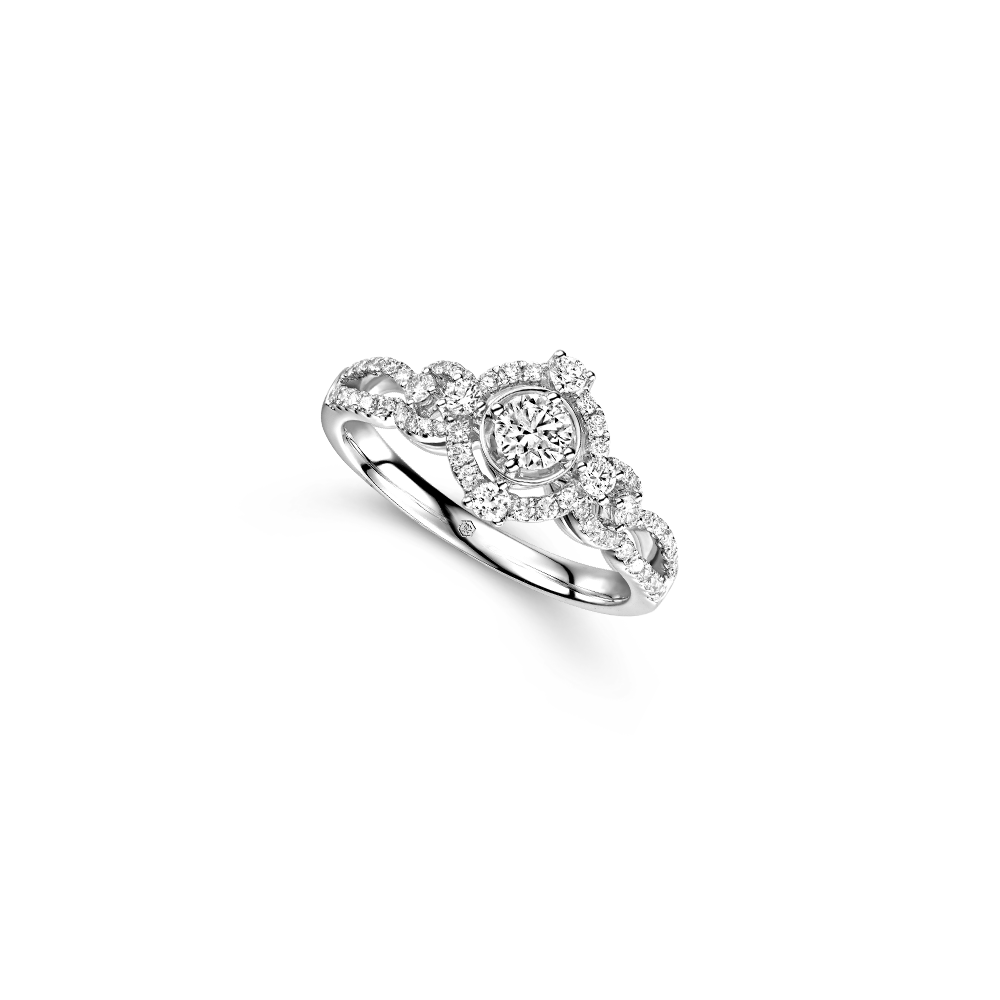 "Wedding Collection""Romantic Beauty"" 18K White Gold Diamond Ring"