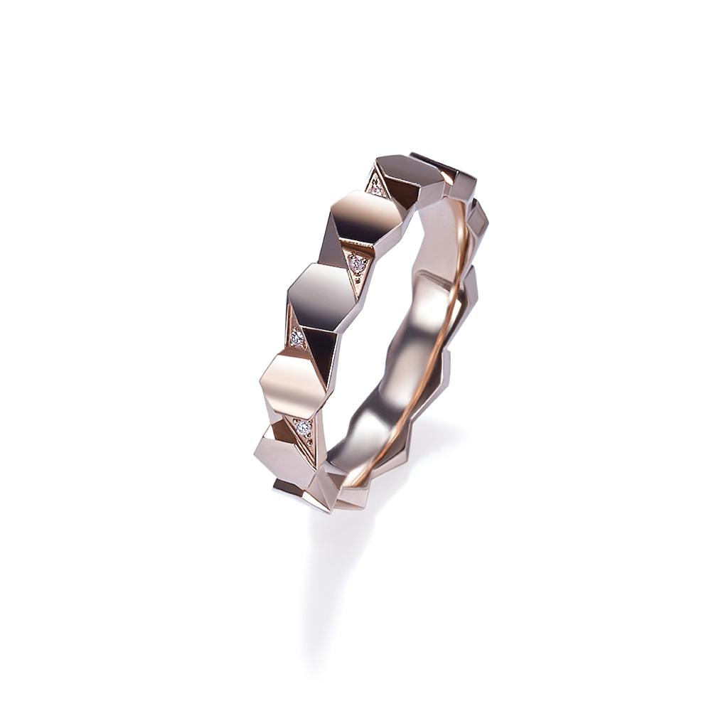 Hexicon 18K金(红色)钻石戒指
