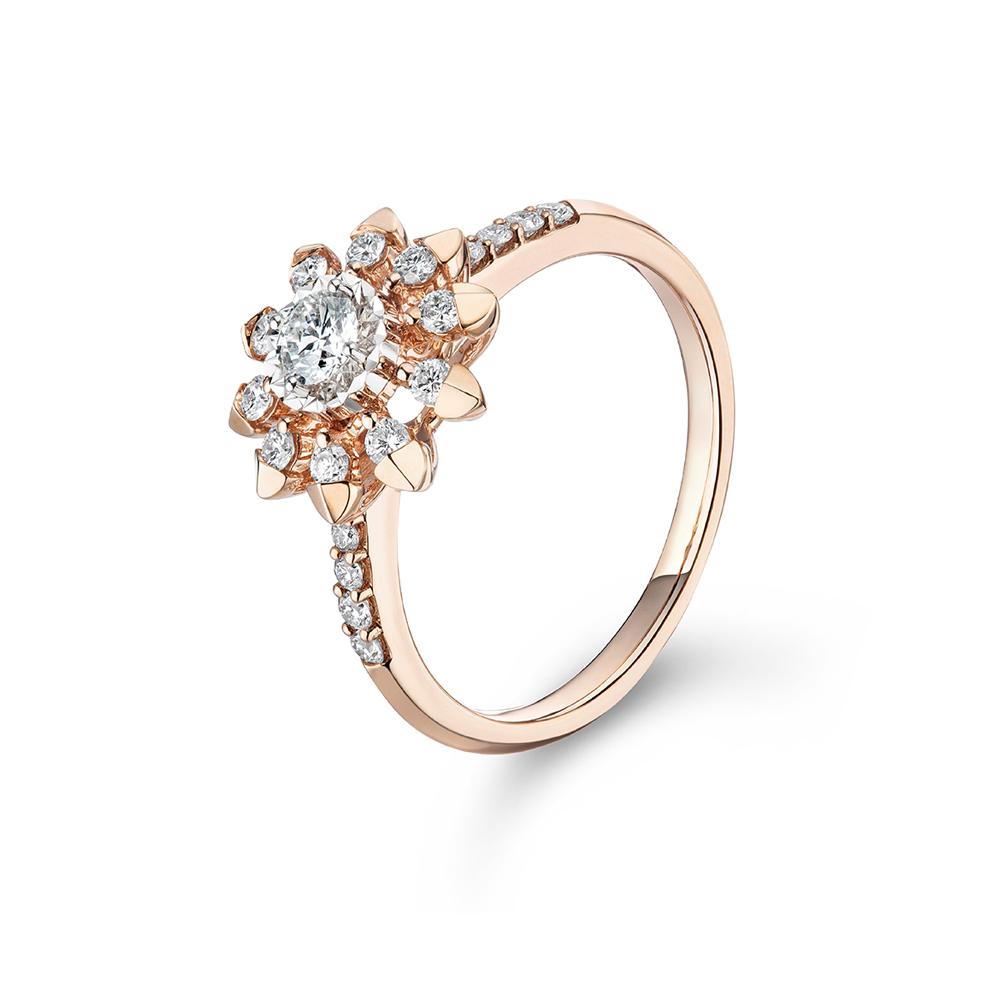 """天天爱上新""""太阳神话"""" 18K金钻石戒指"""