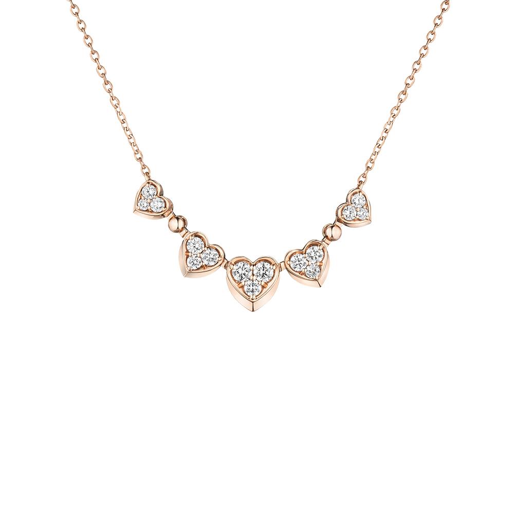 """天天爱上新""""爱的方程式"""" 18K金钻石项链"""