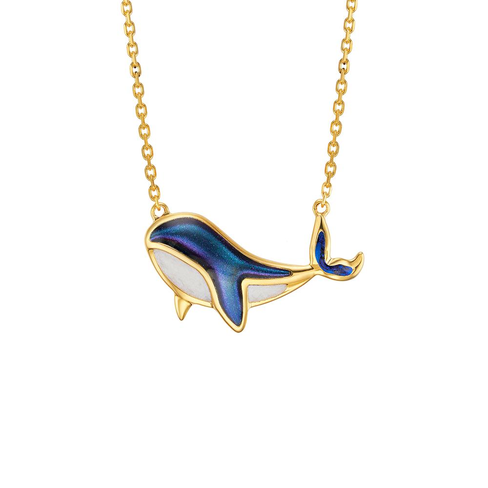 """天天爱上新Goldstyle""""小蓝鲸""""足金项链"""