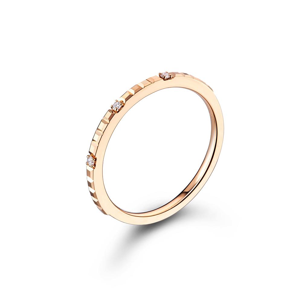 """天天爱上新""""甜蜜巧克力"""" 18K金钻石戒指"""