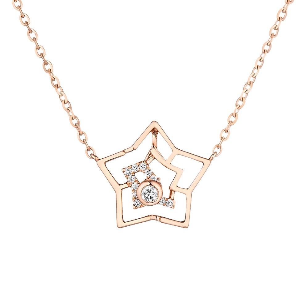 """天天爱上新""""星光""""18K金钻石项链"""