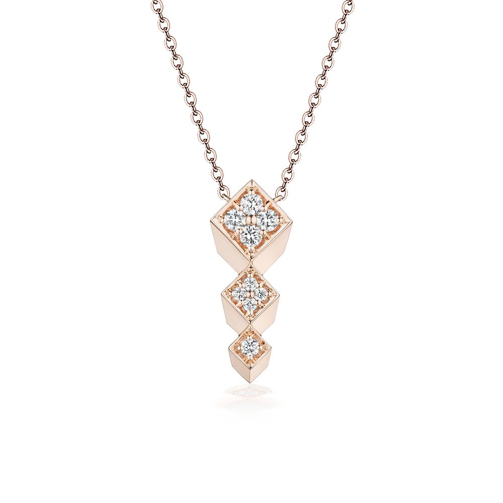 """天天爱上新""""立体玩味""""18K金钻石项链"""