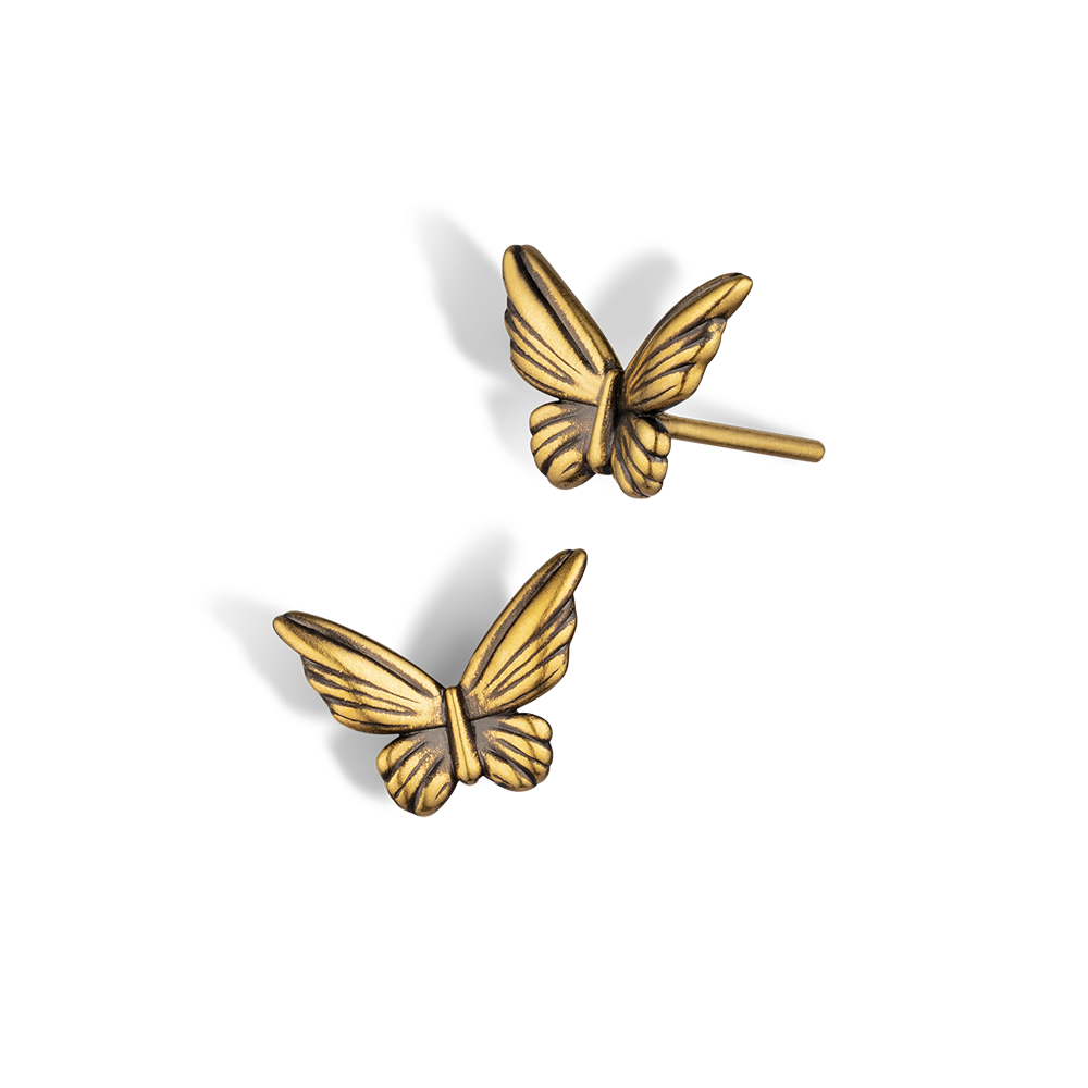 F-style Hey Cool Collection Butterfly Gold Earrings