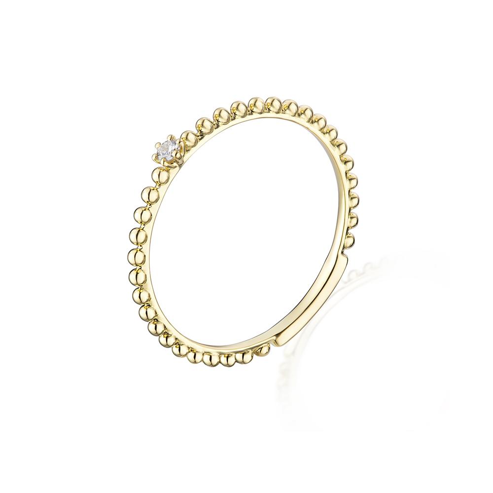 """天天爱上新""""甜蜜点点""""18K金钻石戒指"""