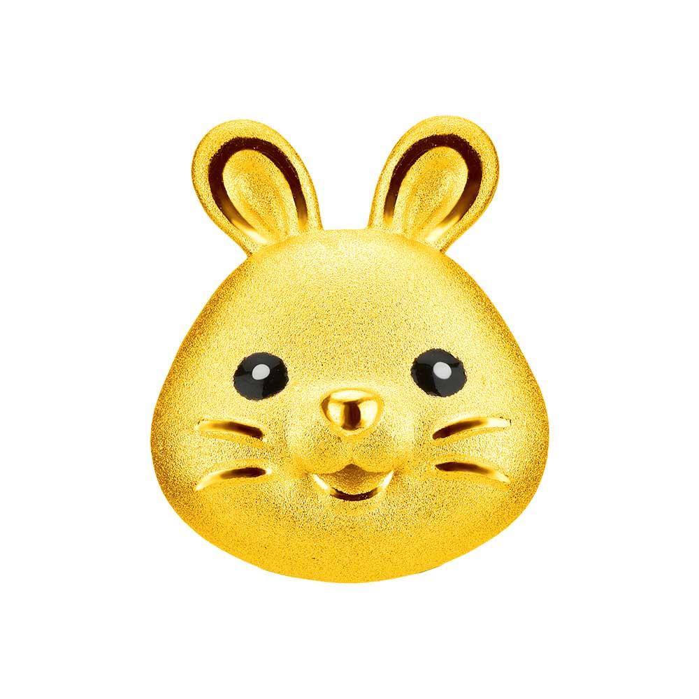 繽紛玉兔黄金串飾