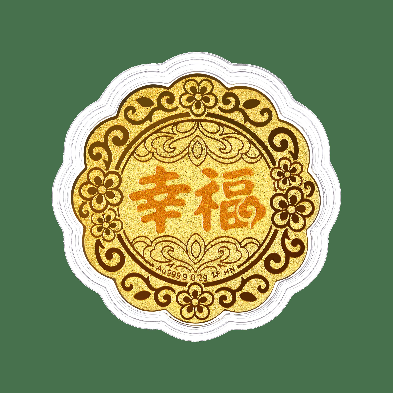 """""""七星伴月""""幸福黃金工藝品"""