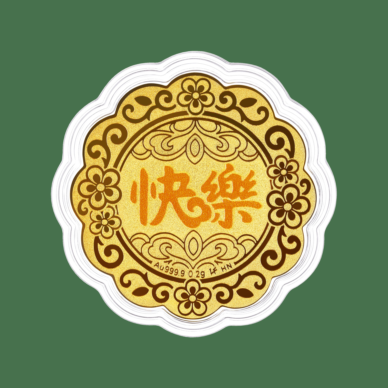 """""""七星伴月""""快樂黃金工藝品"""