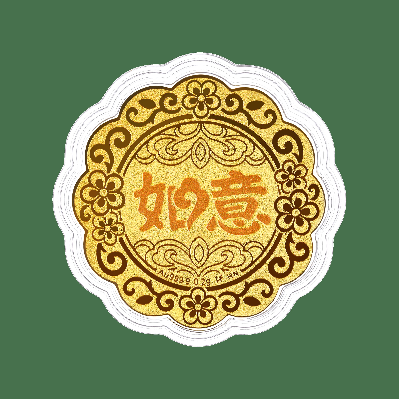 """""""七星伴月""""如意黃金工藝品"""