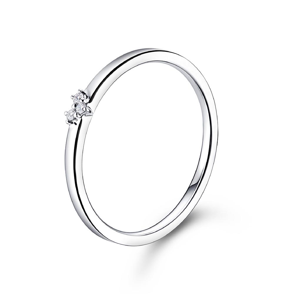 """天天爱上新""""一生承诺""""18K金钻石戒指"""