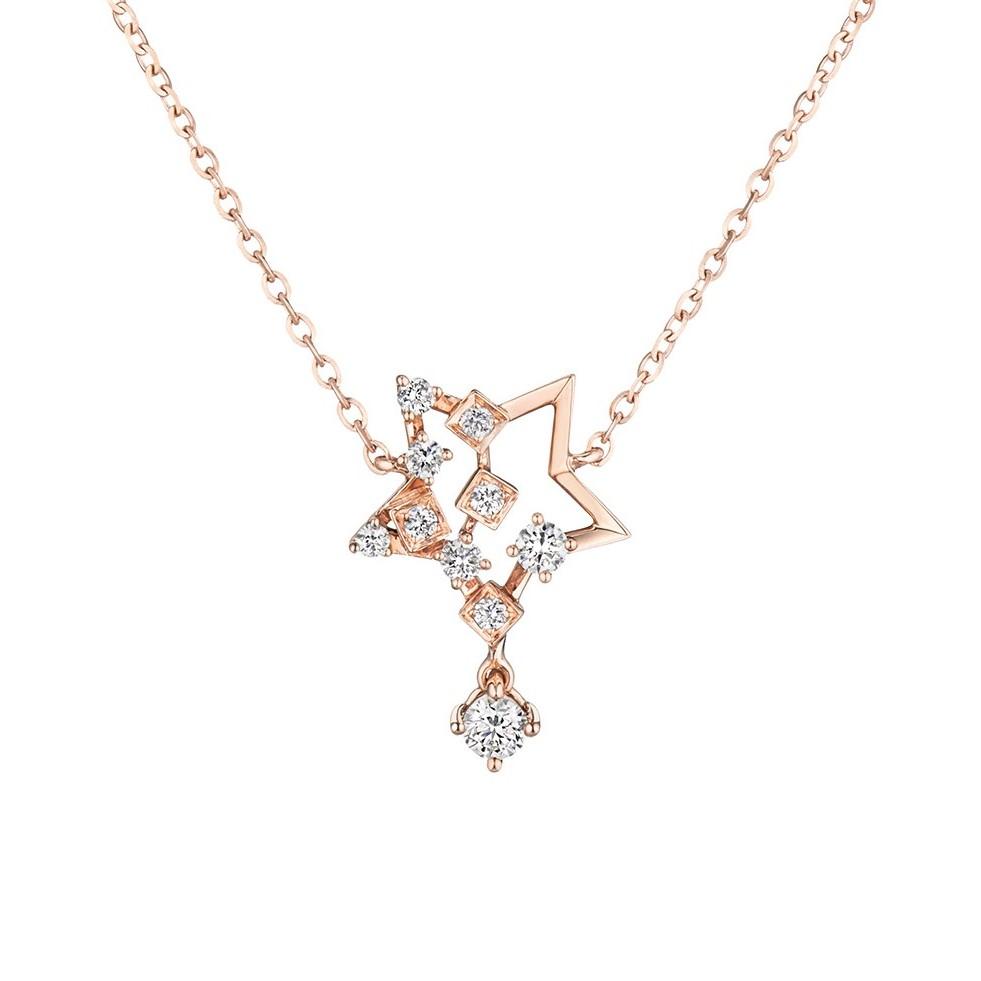 """天天爱上新Tiny Tiny""""许愿流星""""18K金钻石项链"""
