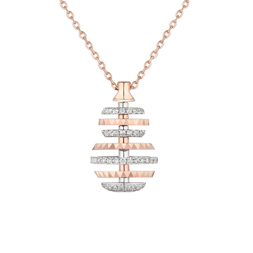 """天天爱上新""""璀璨葫芦""""18K金钻石项链"""